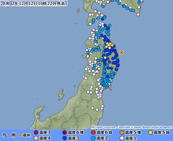東北地方で最大震度5弱の地震発生 M5.5 震源地は岩手県沖 深さ約50km