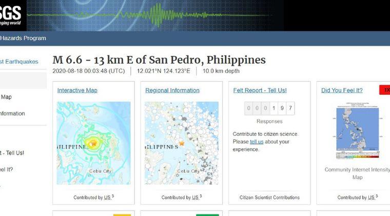 フィリピンで「M6.6」の地震発生…1人が犠牲に43人が負傷