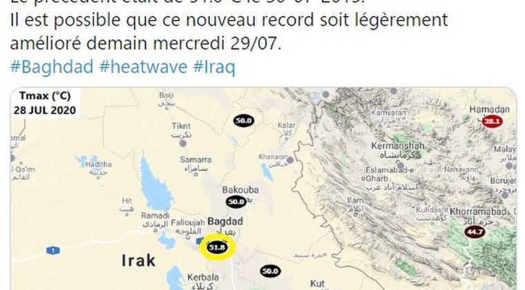 【異常気象】イラク・バグダッドで史上最高気温「51.8℃」を記録