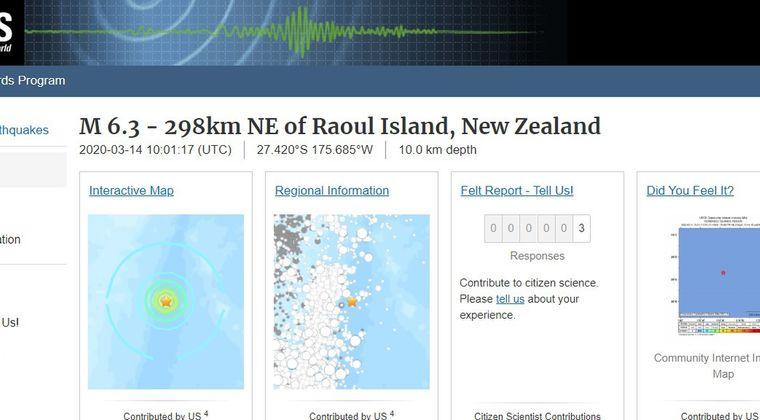 ニュージーランドで「M6.3」の地震発生!伊豆・小笠原にM7クラスへの繋がりあり