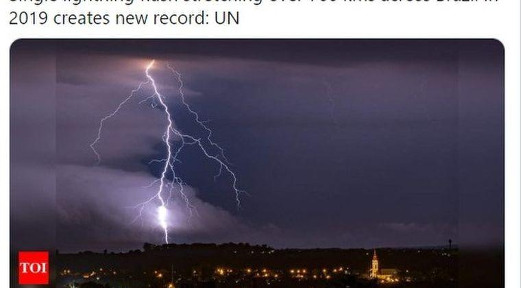 【サンダーストーム】インドで落雷により103人が犠牲に…ブラジルでは「メガフラッシュ」全長700kmの雷が観測される