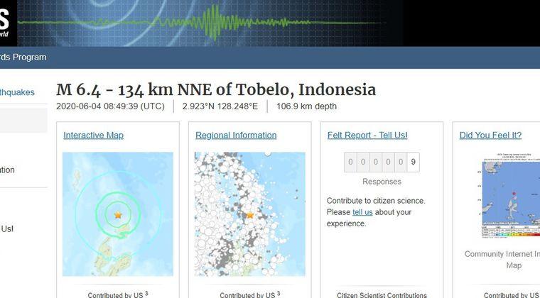 【海外】インドネシアで「M6.4」の地震発生