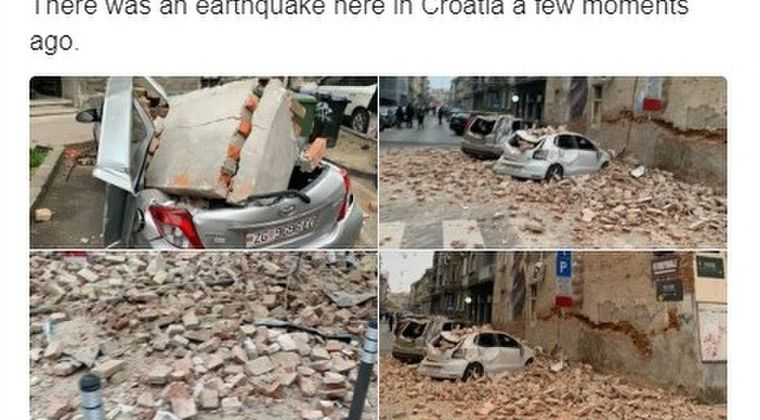 クロアチアで「M4.6」と「M5.4」の地震が発生!140年ぶりの大型地震…新型コロナも広がってる中、停電や建物も崩れ市民はパニックに