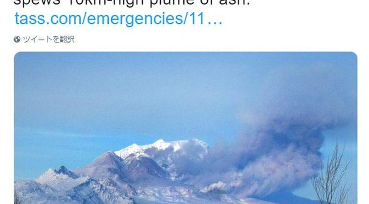 ロシアのカムチャツカ半島にあるシベルチ山が大噴火…噴煙10000メートルを超え、半島最高峰の他の火山でも噴火が相次ぐ