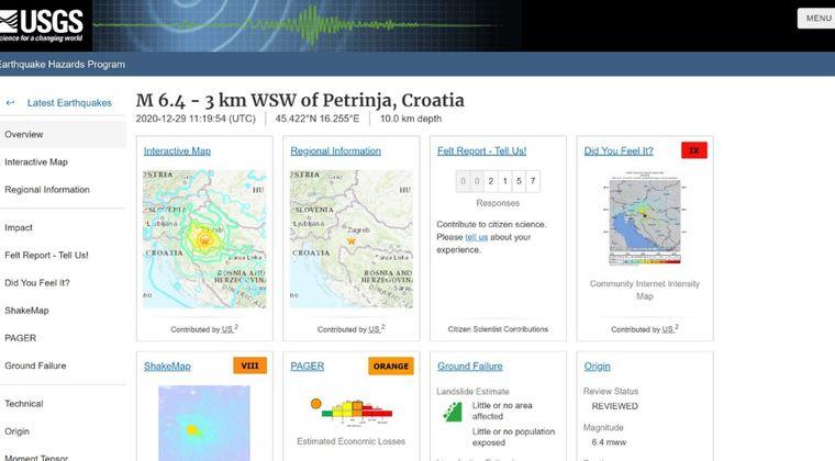 【ヨーロッパ】クロアチアで「M6.4」の大きな規模の地震が発生