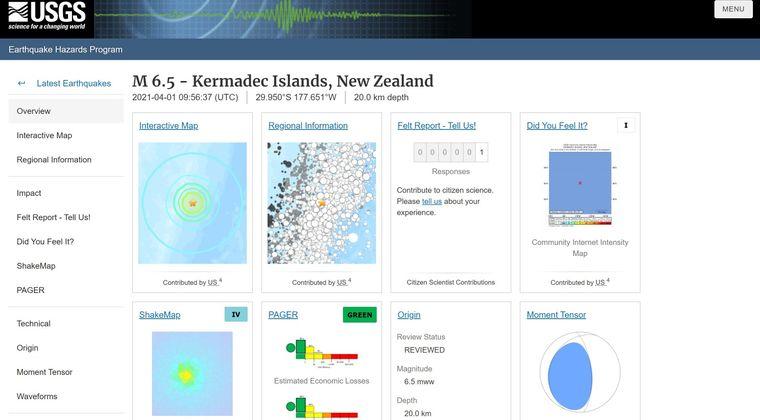 【USGS】ニュージーランド付近で「M6.5」の地震発生…バヌアツの法則で日本にもまた連動しそうじゃない?