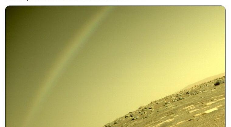 【謎】火星探査機のカメラが「虹」のようなものを撮影し話題になる → NASA幹部「絶対に虹ではない」