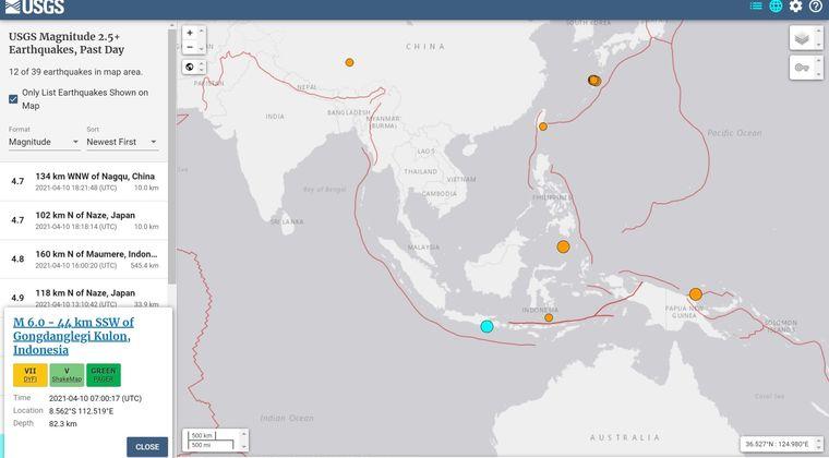 インドネシア・ジャワ島南方沖で「M6.0」の地震発生…家屋300以上損壊など被害多数