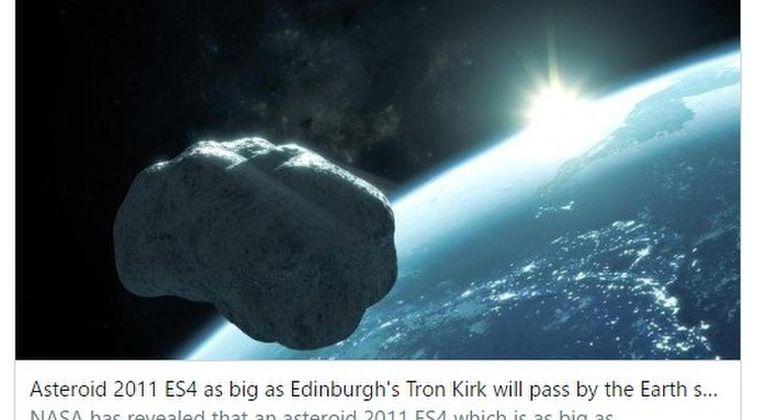 【小惑星】2020年9月1日「2011 ES4」が地球に大接近!月より近い場所に…人類に終末が訪れます