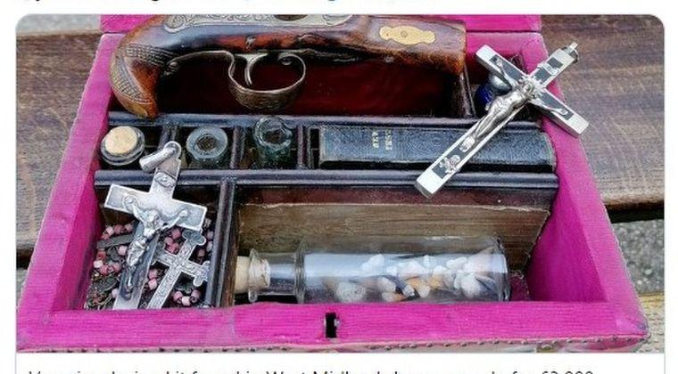【ドラキュラ伝説】19世紀に実在した「ヴァンパイア・ハンター」の装備品がオークションに出品される