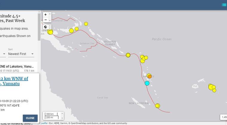 【法則】南太平洋バヌアツ沿岸で「M5クラス」の地震が相次ぐ…近隣のパプアニューギニアやフィジーでも「M6クラス」の地震発生