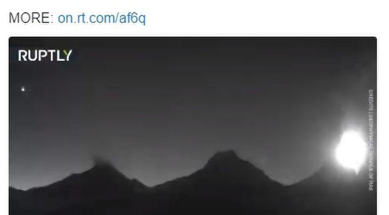 【ロシア】カムチャツカ半島にあるクリュチェフスカヤ山が噴火