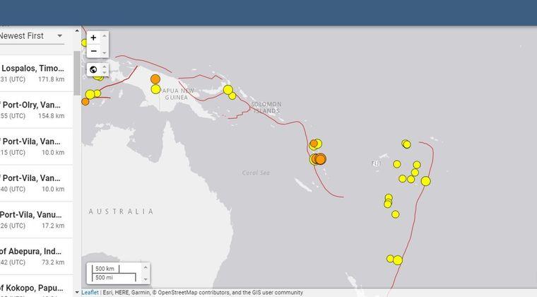 【地震連鎖】バヌアツで「M5~6」の地震が相次ぐ!フィリピンとチリで「M6.3」 大西洋でも「M6.7」が発生