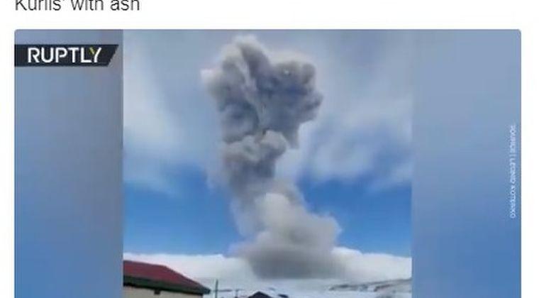 【千島列島】ロシア、クリル列島で火山が噴火