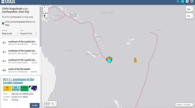 【連動】南太平洋ニューカレドニア沖で「M7.7」の地震発生…現在も「M5.0クラス」の地震相次ぐ