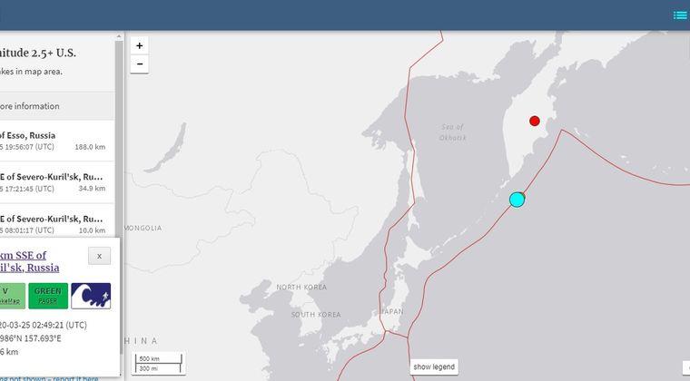 【北西太平洋】25日、千島列島沖で「M7.8」の地震が発生…なぜか東京や長野まで揺れる