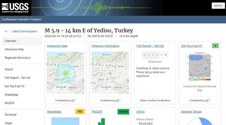 トルコで「M5.9」の地震が発生…その後「M4.5」の地震が2回