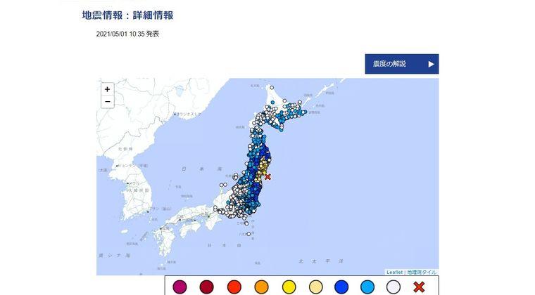 【地震】東日本の広い範囲で揺れを観測…最大震度5強 M6.6 震源地は宮城県沖