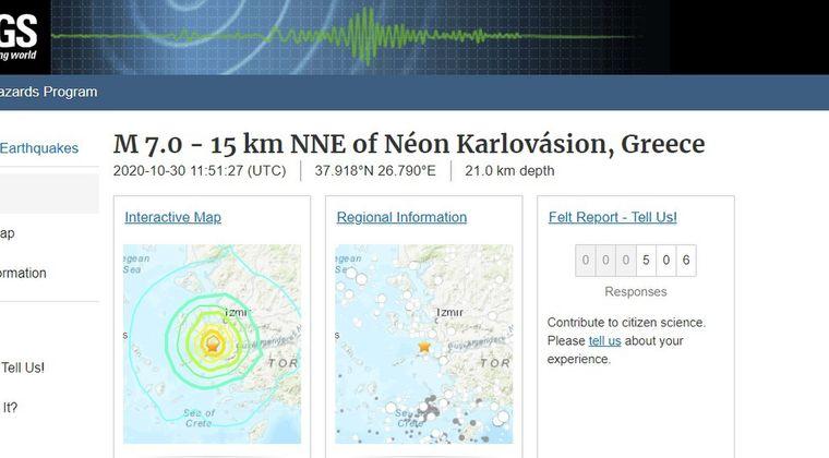 【地中海】ギリシャでM7.0の大地震が発生…津波が発生し、トルコでは建物崩壊