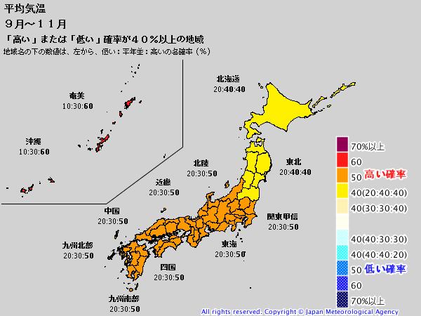 【ラニーニャ】気象庁3か月予報…9月も暑く、10月も気温が高い模様