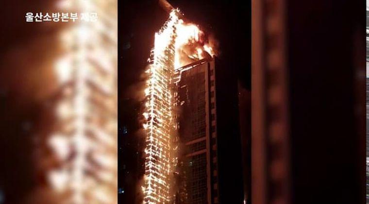 【動画】韓国の高層ビル火災、高架はしご車が1台もなく被害拡大ってwww