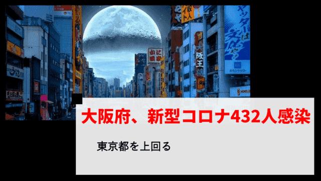 新型コロナ 大阪府で新たに432人感染 東京都を上回る【3月30日】