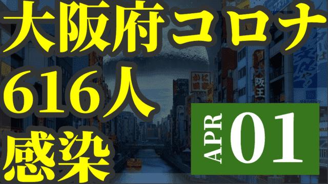 【悲報】大阪で新たに616人が新型コロナ感染 4月1日 600人超は1月16日以来