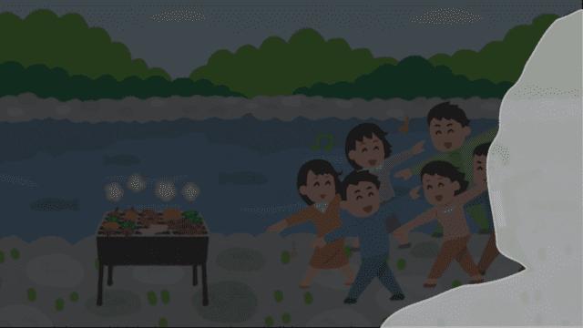 【悲報】多摩川でバーベキューの男性(20)が死亡…服を着たまま川で溺れる