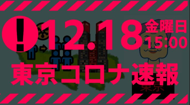 【速報】東京都 新型コロナ 664人感染確認 12月18日 金曜の最多、過去3番目の多さ