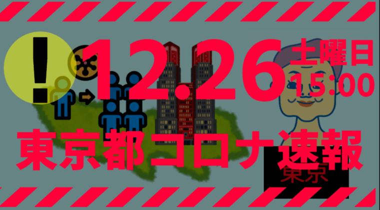 【速報】東京都 新型コロナ 949人感染確認 12月26日 過去最多を更新