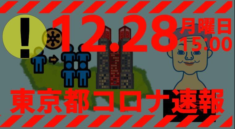 【速報】東京都 新型コロナ 481人感染確認 12月28日 月曜日の最多を更新