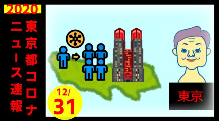 【速報】東京都 新型コロナ1337人感染確認 12月31日 初の1000人&1300人超え