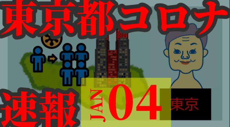 【速報】東京都 新型コロナ 884人感染確認 1月4日 月曜の最多を大幅に更新