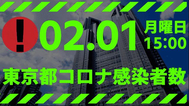 【新型コロナ】東京都、2月1日の感染者数を発表 12月21日以来の数字に