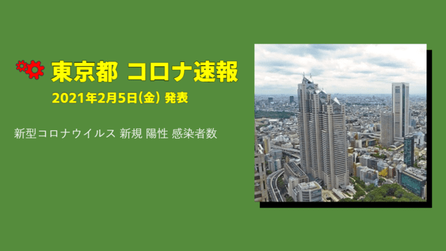 【速報】東京都 2月5日 新型コロナ感染者数を発表。金曜の速報値、詳細は…