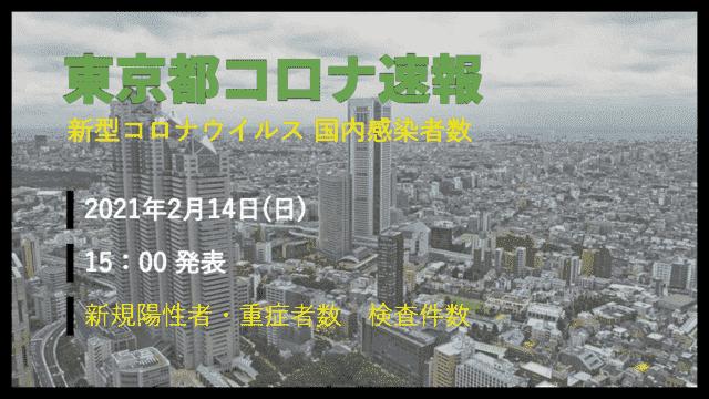 【速報】東京都 2月14日 新型コロナ 感染者数を発表 検査件数、謎すぎる…