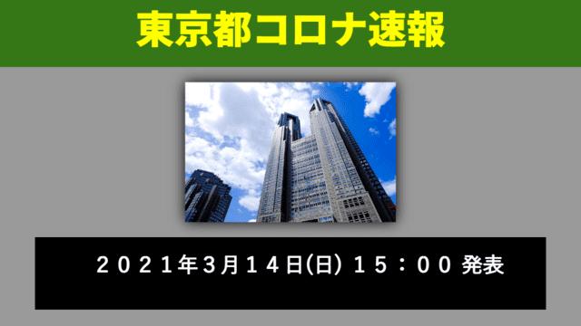 【速報】東京都 3月14日の感染者数を発表 新型コロナ 微増のなか宣言解除へ
