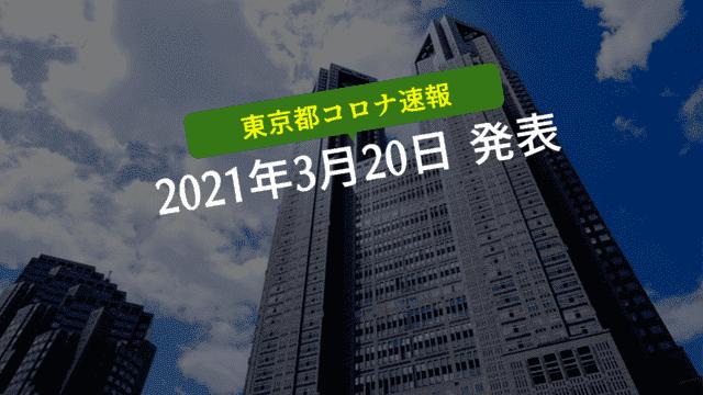 【速報】東京都 新型コロナ感染者数を発表 3月20日 検査件数はピークの40%