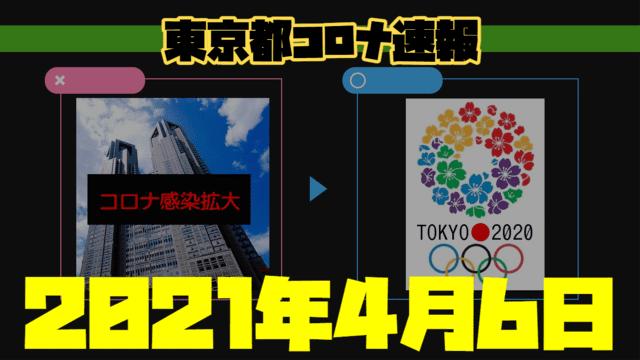 東京都 新型コロナ感染者数を発表 4月6日 検査数、東京五輪に向け減少続く