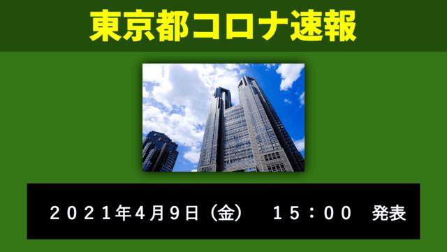 【速報】東京都 新型コロナ感染者数を発表 4月9日 検査数、再び謎の激減へ!