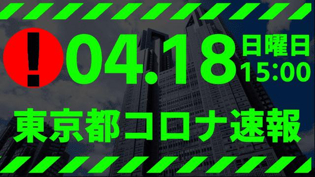 【速報】東京都 新型コロナ感染者数を発表 4月18日 検査数ピークの半数割る