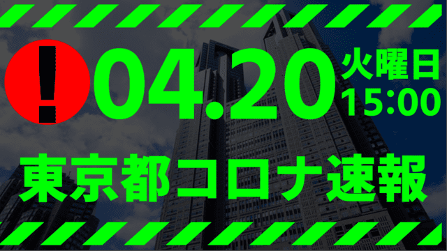 【速報】東京都 新型コロナ感染者数を発表 4月20日 検査数、ピーク時の29%