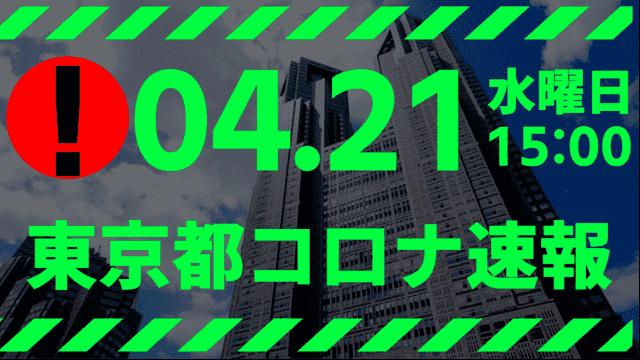 【速報】東京都 新型コロナ感染者数を発表 4月21日 検査数、ガチで少ない!