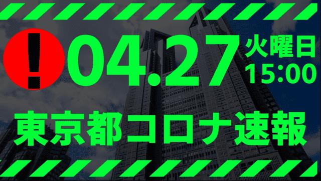 【速報】東京都 新型コロナ感染者数を発表 4月27日 検査数、激減はじまる…
