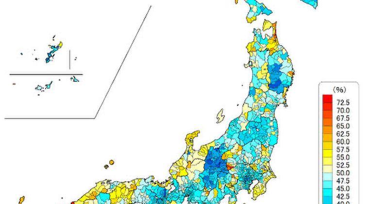 「自民党が嫌われてる都道府県」が分かる画像wwwww