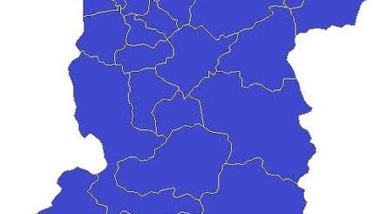 岐阜を人口で2等分した図
