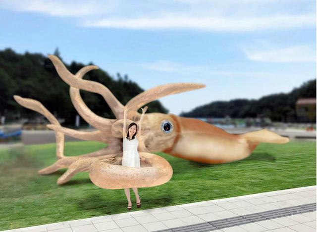 """石川県、コロナ交付金2500万で超巨大""""イカ""""建造"""