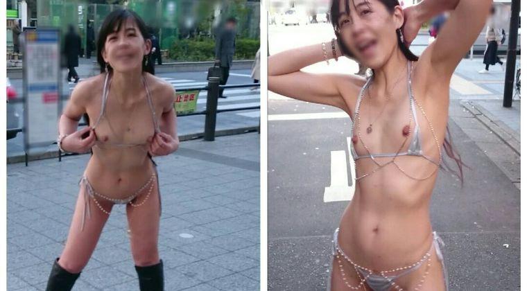 日本人陽キャ女さん、真昼間から外で素っ裸になり通行人に見られまくる #露出