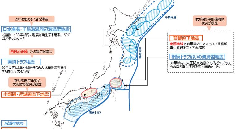 【悲報】南海トラフと首都直下型地震、30年以内の「発生率70%以上」という事実