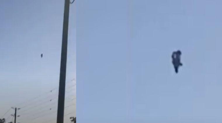【新作UFO】カナダの上空に突如現れた「フライング・ヒューマノイド型」の未確認飛行物体の動画がこちら